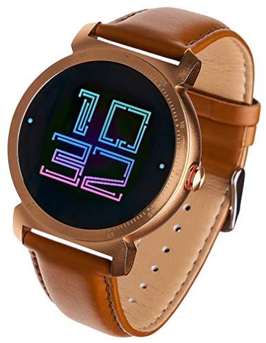 Garett Electronics GT20S Leder Smartwatch, Gold, 5903246282757, braun, Gold