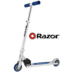 Top quality aluminum construction of the Razor A kick scooter is lightweight yet durable Features our original folding mechanism for quick and easy carry, transport and storage between rides Easy-adjust handlebars can be set to the perfect ride heigh...