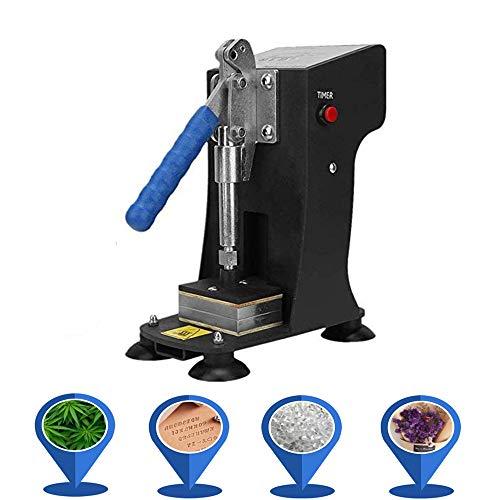 CABINA HOME Rosin Prensa de transferencia, mini prensa manual de colofonia Press, placas de calefacción duales, presión máxima de colofonia (220 V)
