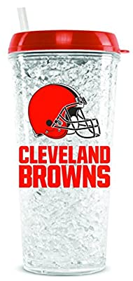 NFL Cleveland Browns 16oz Crystal Freezer Tumbler with Lid and Straw
