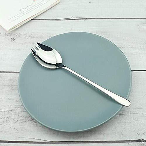Blentude Salatgabel Löffel 304 Edelstahl - Innovative Obstgabel