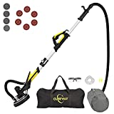 Drywall Sander with Vacuum, Labor-Saving Handle and Unique Fixture for Ceiling Sanding, Electric Drywall Sander with LED Light, ETL Listed, CUBEWAY