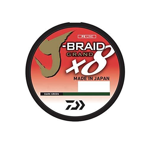 Daiwa JBGD8U30-150DG J-Braid Grand 8X Filler 150 yds 30 lb. Test Angelschnur, Dunkelgrün