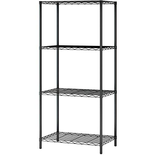 Gracious Living 4-Tier Shelf Light Duty Garage Storage Shelving Unit (4 Pack)