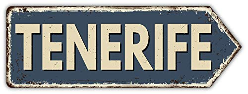 Tenerife Island Spain Grunge Emblem - Self-Adhesive Sticker Car Window Bumper Vinyl Decal Pegatina Engomada para del Coche