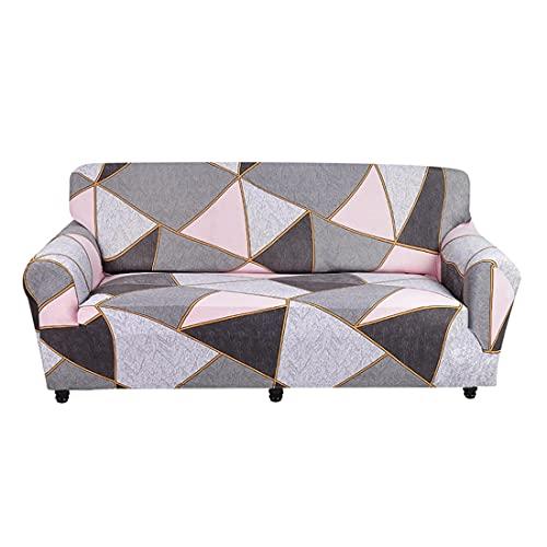 WXQY Funda de sofá de celosía geométrica Funda de sofá elástica para Sala de Estar sofá Toalla en Forma de L Funda de sofá de Esquina A3 4 plazas