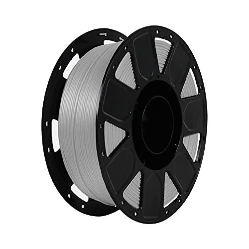 LI Q P R Precisión PLA 3D Filamento de impresora 1.75mm Dureza Consumibles Material con carrete (gris)