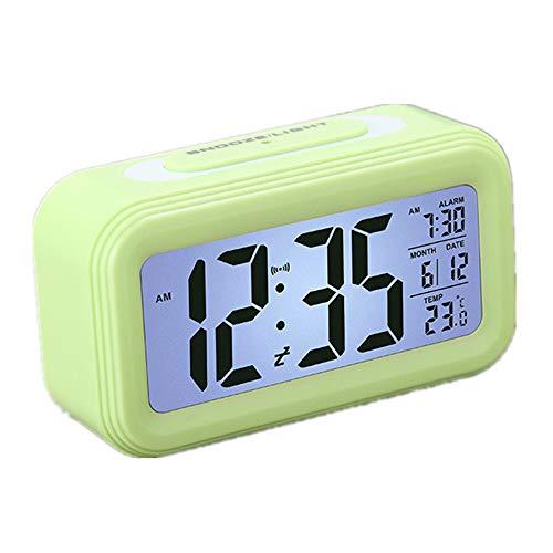 LUOYLYM Upgrade Temperatur Version Mute Clock Elektronische Uhr Licht Wecker Led Wecker Kreative Multifunktionale Smart Clock
