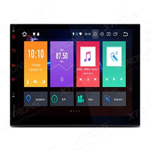 7 'Android 9.0 Estéreo para automóvil Unidad principal de doble Din 4G + 32G 8 núcleos Radio automática Navegación GPS Soporte para automóvil Reproducción automática BT5.0 Pantalla WIFI Espejo DVR TP