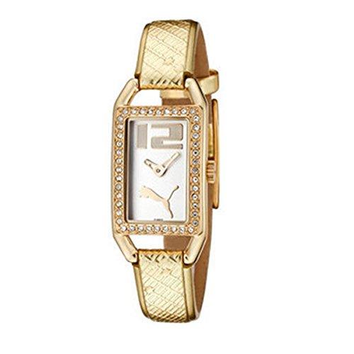 Puma Pure Pliancy PU101672001 - Reloj de Mujer de Cuarzo, Correa de Piel Color Oro