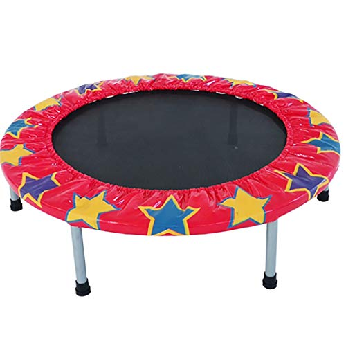 Trampolines Trampoline with Enclosure for Kids Home Mini Rebounder Trampoline Children's Quiet Indoor Trampette Best Home Gym for Fitness & Lose Weight (Color : A)