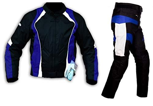 WinNet Completo tuta da moto in cordura giacca e pantaloni per turismo con protezioni (5XL)