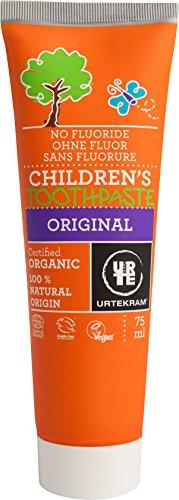 Urtekram 83906 Kids tandpasta Original Bio, zonder fluoride, per stuk verpakt (1 x 75 ml)