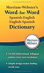 commercial Merriam-Webster Spanish-English Word-by-word dictionary, latest edition, mass market, paperback … english dictionary book
