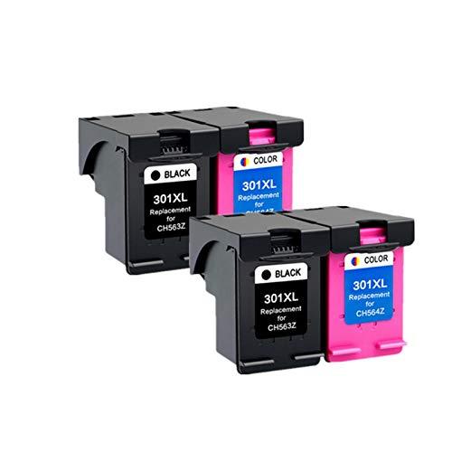 ZITENG CGBH Cartucho 301XL Compatible con HP 301 XL for el Cartucho de Tinta HP301 for HP Envy 5530 Deskjet 2050 2540 2510 1000 1050 Impresora (Color : 2 BK 2 Color)
