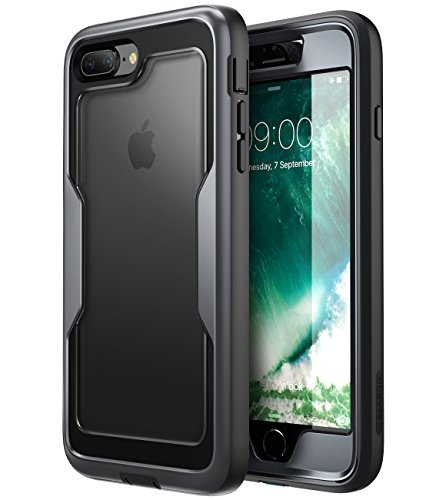 i-Blason Cover iPhone 8 Plus / iPhone 7 Plus, Custodia Rigida con Protezione Schermo Integrata [Serie Magma] Rugged Case per iPhone 8 Plus 2017 / iPhone 7 Plus 2016, Nero