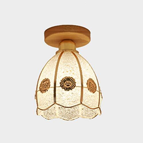BAIJJ hanglamp persoonlijkheid retro hanglamp wind industrieel ijzer plafondlamp slaapkamer werkkamer woonkamer badkamer keuken plafondlamp glas (16*22cm)