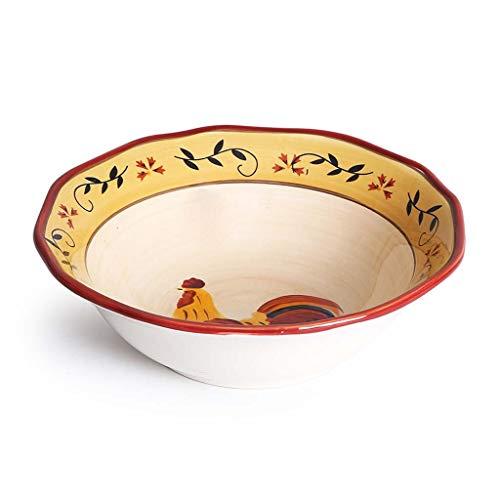 SCJ 9,84 Pollici Scodella per zuppa Grande in Ceramica per Uso Domestico, idilliaca in Ceramica Insalatiera per Frutta Coltelleria Creativa per Uso Domestico Scodelle per Cereali Scodelle per de