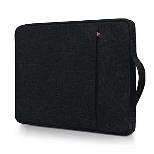 RAINYEAR - Funda para ordenador portátil compatible con MacBook Air Pro de 13,3 pulgadas, con asa y bolsillo frontal, poliéster, impermeable, color negro