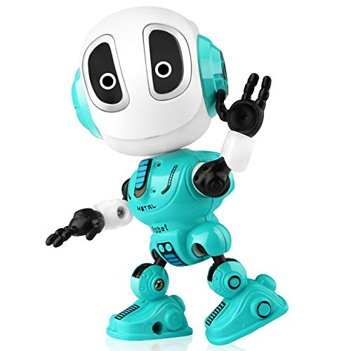 Betheaces Robots Toy for Kids, Boys, Girls - Metal Talking Robot Kit with Sound & Touch Sensitive LED Eyes Flexible Body, Mini Smart Interactive Educational Toys for 2 3 4 5 6 Year Old Birthday Gift