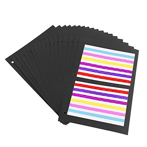 OUME Fotoalbum Schwarze Seiten 26 x 18 cm, Nachfüll Seiten für Scrapbook Album 27.5 x 20.5cm, 20pcs