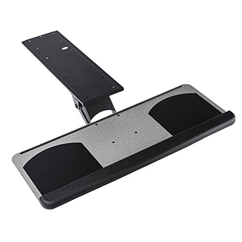 GT Innovation New Undermount Height Adjustable Keyboard Tray Mouse Pad Tray with Drawer and Tiltable Ergonomic Design 360 revolvable (25' x 10')