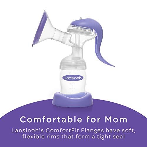 Lansinoh Manual Breast Pump, Portable Hand Pump for Breastfeeding