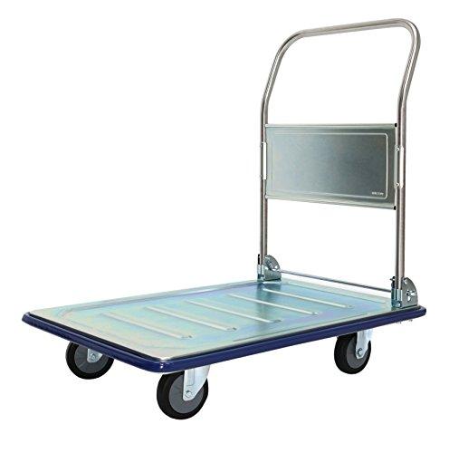 T-EQUIP thermisch verzinkt platform trolley ZT-210, 300 kg draagvermogen, B x D x H: 92,5 x 62,5 x 95 cm, verchroomd staal