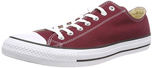 Converse Unisex Chuck Taylor All Star Low Top Red Sneakers - 8.5 D(M) US