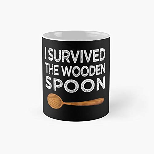 I Survived The Wooden Spoon Funny Birthday Gift Classic Mug | Best Coffee Mugs 11 Oz