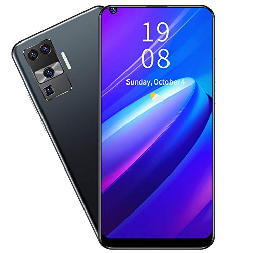 Archuu X66 Unlocked Smartphone, PRO+ 6.72in Screen Fingerprint Unlocking Dual Card Dual Standby Smart Phone 2+16GB Unlocked Android Smartphone(Black)
