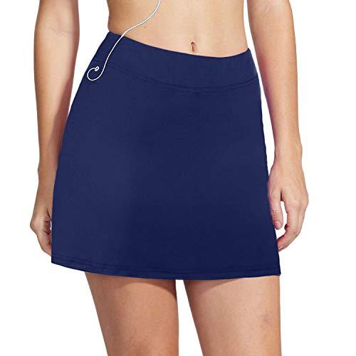 iClosam Falda de Golf Falda de Tenis Corta Deportivo para Mujer Moda y Comodo (Azul Oscuro#2, L)