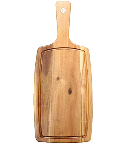 NANXCYR Pizza BoardVassoio per posate in legno Piatto per pizza Bordo per frutta e verdura Vassoio per la casa Forniture per la cucina 52 * 21 * 1.5Cm