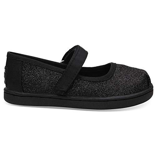 TOMS Unisex-Kinder Tiny Mary Jane Slip On Sneaker, Schwarz (Black 000), 28.5 EU
