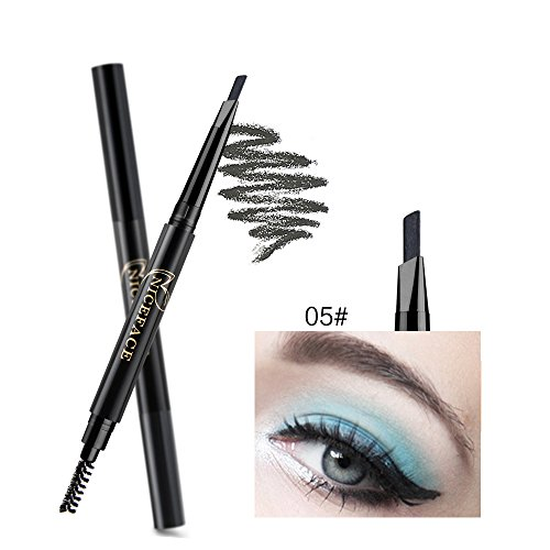 NICEFACE Wenkbrauwpotlood Grey Double Ended Precision Waterproof Brow (Gray # 5)