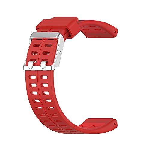 Correa de repuesto, silicona suave impermeable ajustable a prueba de sudor, reloj inteligente de pulsera elegante y simple, adecuado para hombres y mujeres