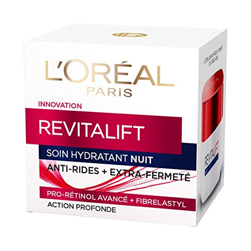L'Oréal Paris - Revitalift - Soin Nuit Hydratant - Anti-Rides & Extra-Fermeté - Anti-Âge - 50 mL