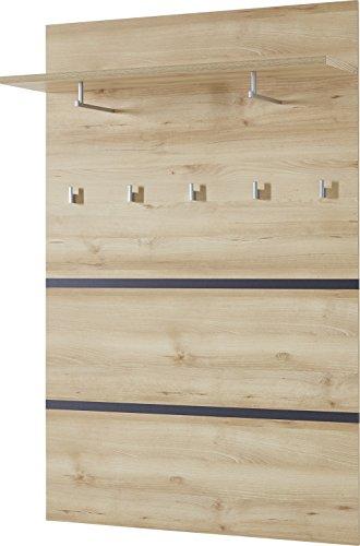 Germania 3475-228 Garderobenpaneel GW-Lissabon, 96 x 147 x 30 cm, edelbuche Nachbildung