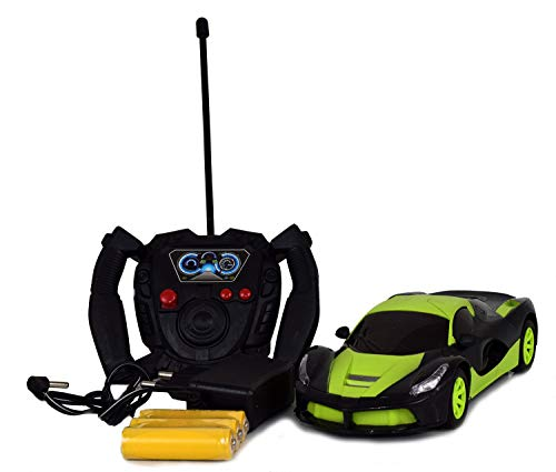 Gooyo Dynamic Radio Control Car 1:20 with Color Glitter Wheels and Rechargeable Batteries