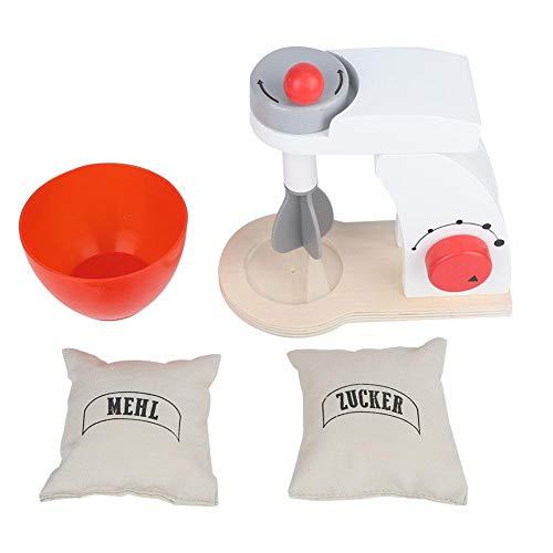 Longzhou Küchenset, Spielzeug Küchenzubehör Holz Pretend Play Simulation Toaster Brotbackautomat Mixer Backset Kinderküchenspielzeug(Blender)