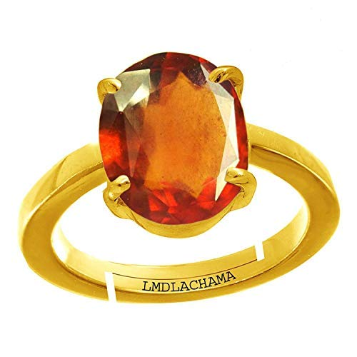 SataanReaper Presents 6.25 Ratti Natural Gemstone Gomed Hessonite Stone Panchdhaatu Adjustable Ring Gold Plated Ring for Man and Women#SR-641
