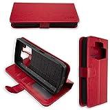 caseroxx Handy Hülle Tasche kompatibel mit Ulefone Power 5 / Power 5s Bookstyle-Hülle Wallet Hülle in rot