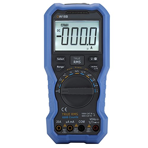 OWON OW18B Multimetro Bluetooth Digital Tester Registrador de Datos Termómetro Compatible con Aplicaciones Móviles-True RMS-Flashlight-NCV Voltaje sin Contacto Sense
