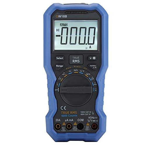 Akozon Bluetooth Digitalmultimeter OW18B Tester Datenlogger Owon Thermometer-unterstützte mobile App-Überlastungsschutz-NCV berührungslose Spannung Sense-Muti Geräte Verbindung-Offline-Record-Funktion