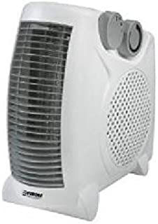 Euromac VK2001 Color blanco 2000W Radiador/ventilador - Calefactor (Radiador/ventilador, Piso, Color blanco, Metal, De plástico, Giratorio, 2000 W)