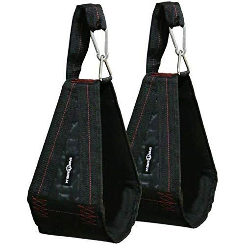 Sporttrend 24   Bauchtrainingsschlaufen schwarz im Set inkl Karabiner   Armschlaufen für Bauchtraining