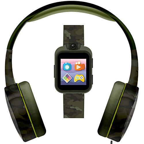 PlayZoom 2 Kids Smartwatch & Headphones Video Camera Selfies STEM Learning Educational Fun Games, MP3 Music Player Audio Books Touch Screen Digital Watch Gift for Kids Toddlers Boys Girls Fun Prints