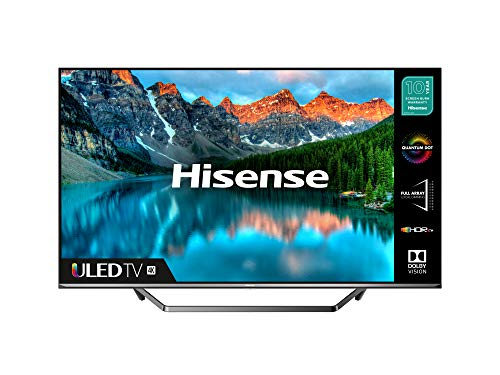 HISENSE 55U7QFTUK Quantum Series 55-inch 4K UHD HDR Smart TV with Freeview play, and Alexa Built-in (2020 series), Silver