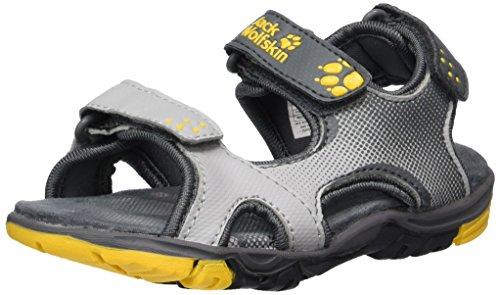 Jack Wolfskin Jungen Puno Bay Sport Sandalen, Grau (Burly Yellow Xt 3802), 26 EU