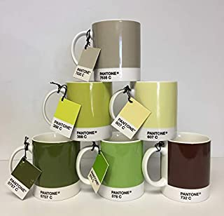 Whitbread Wilkinson Pantone Bone China Mug, Green Tones 2009, Pack Of 6